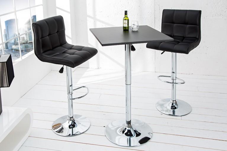 Design Stehtisch MOVE schwarz chrom Bistrotisch höhenverstellbar Bartisch