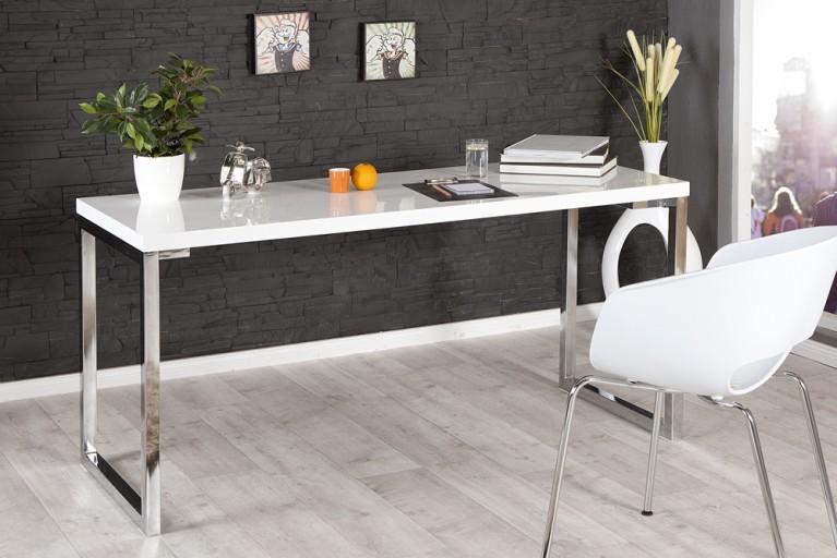 Design Schreibtisch WHITE DESK 160cm hochglanz weiss