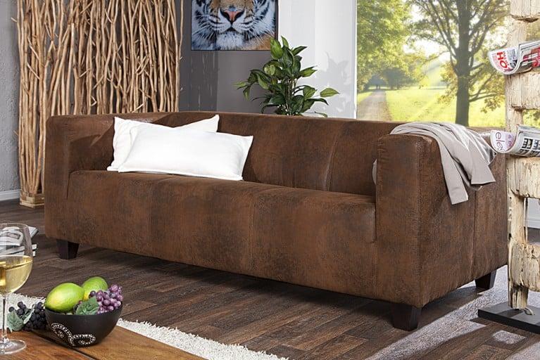 design sofa lifestyle 2 sitzer im used piloten look riess ambiente onlineshop. Black Bedroom Furniture Sets. Home Design Ideas