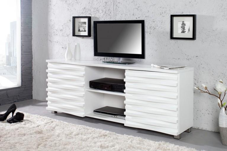 Elegantes Design TV Board CRAZE 160cm weiss matt angesagte TV Anrichte