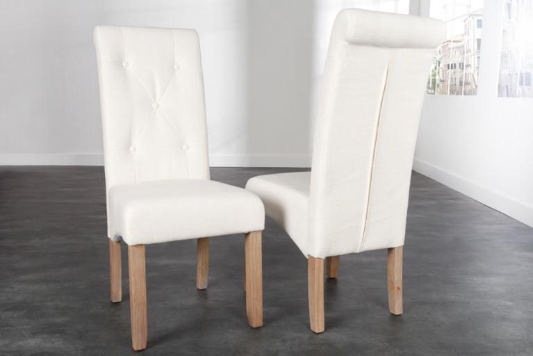 G nstige design st hle online kaufen riess ambiente for Design stuhl addison chesterfield steppung leinen mit holzbeinen