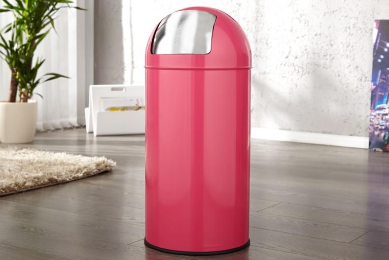 Designklassiker PUSH CAN Mülleimer Papierkorb Pink 40L