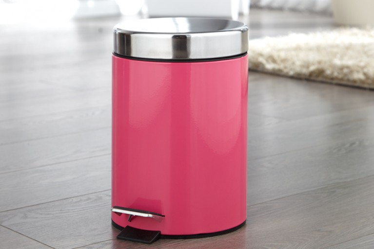 Exklusiver Klassiker REFUSE Mülleimer Metall pink 3 Liter