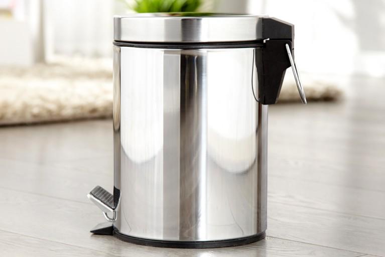 Exklusiver Klassiker BULLIT Mülleimer Metall chrom 3 Liter