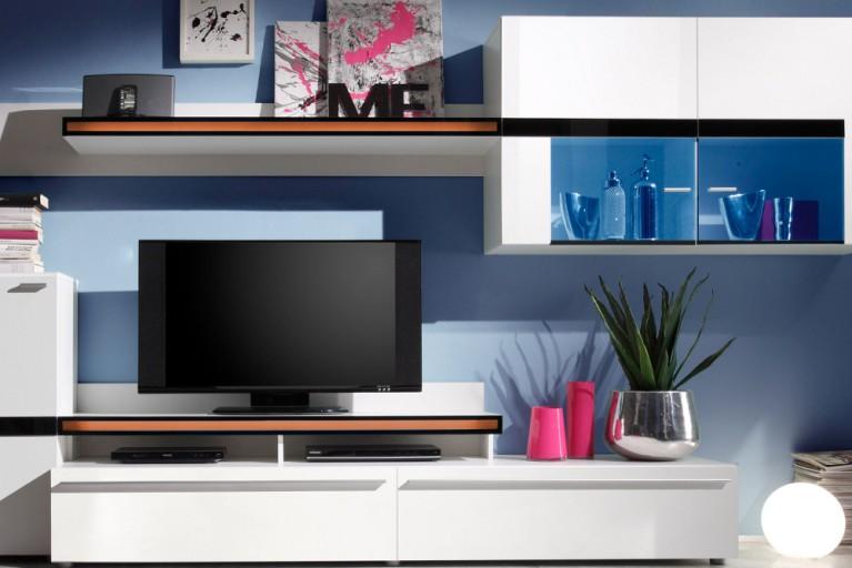 Beleuchtungsset zur Wohnwand PHOENIX 2x LED Flexband und 2x LED Unterbau