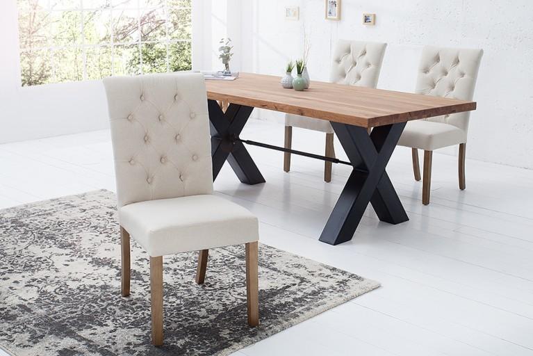 Design chesterfield r cami re im antik look riess for Design stuhl addison chesterfield steppung leinen mit holzbeinen
