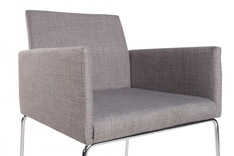 Eleganter Design Stuhl LIVORNO Strukturstoff grau