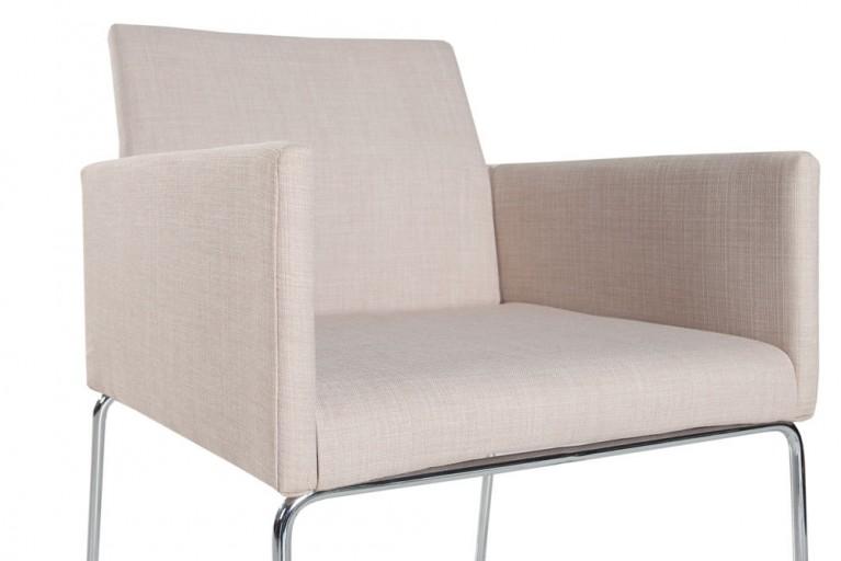 Eleganter Design Stuhl LIVORNO Strukturstoff beige
