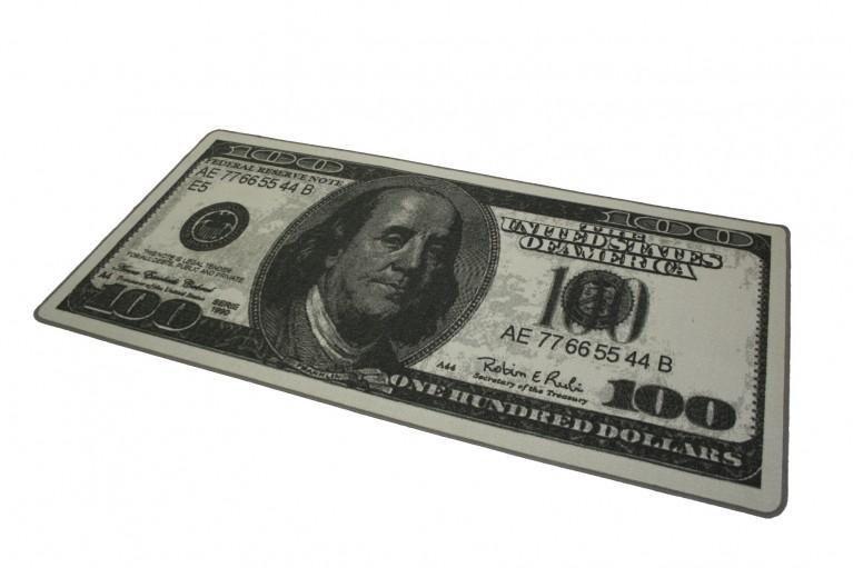 Design Teppich 100 DOLLAR Geldscheinmotiv 100x200cm
