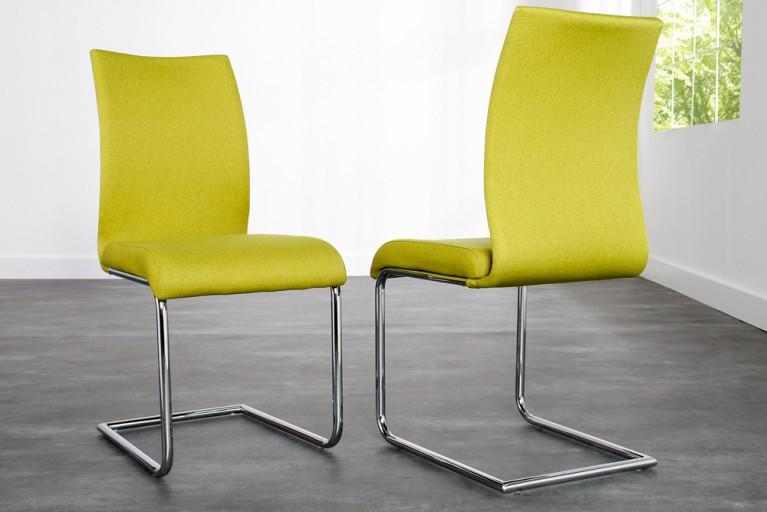Design Freischwinger SUAVE Strukturstoff lemon