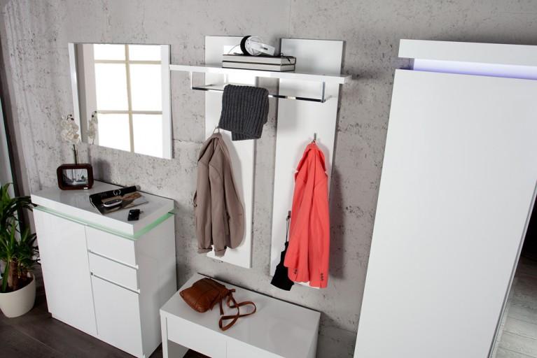 Design Garderobe VENUE Wandpaneel Hochglanz weiss