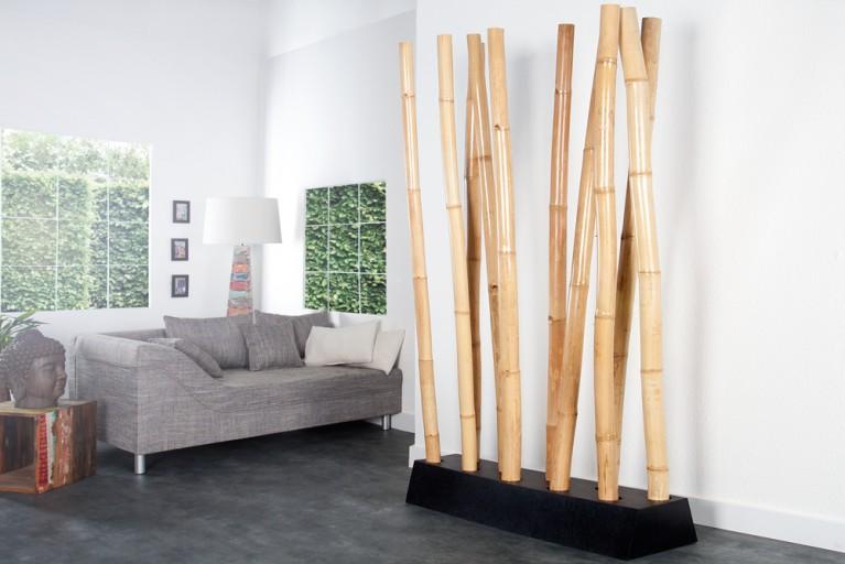 Design Raumteiler BAMBOO natur Trennwand Dekoration aus Bambus