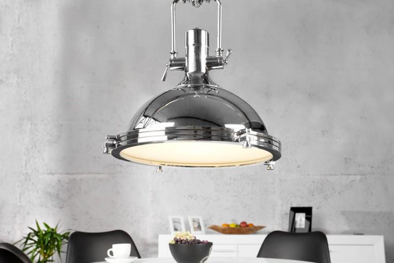 Design Hängelampe INDUSTRIAL chrom 45 cm Industrielampe Designklassiker