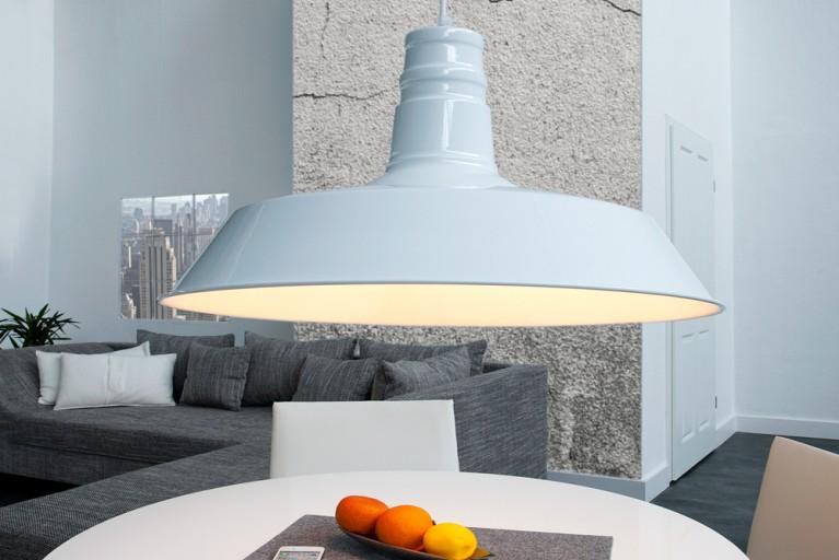 Stylische Industrieleuchte LUCA weiß Hängelampe 45 cm Industrielampe