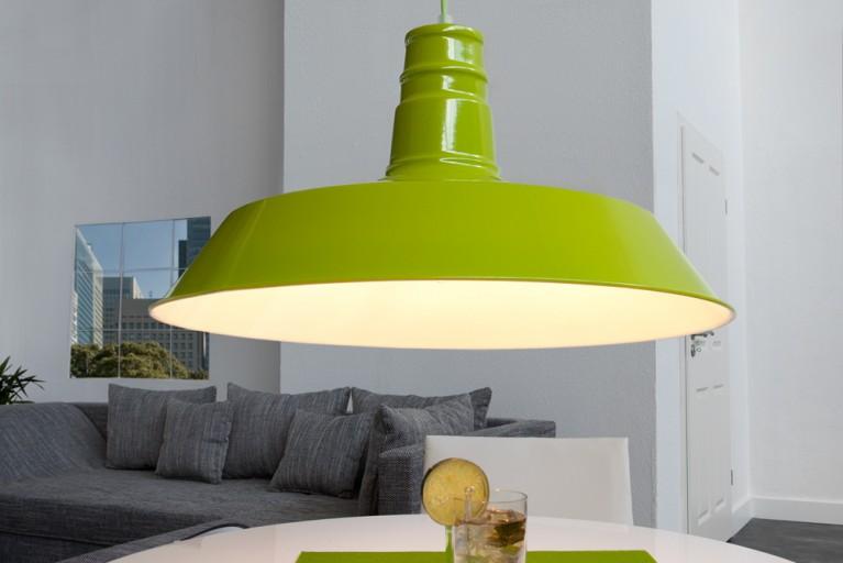 Stylische Industrieleuchte LUCA  lime Hängelampe 45cm Industrielampe