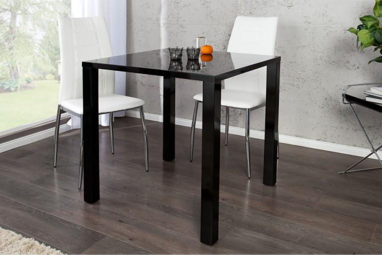 Design Bistrotisch LUCENTE hochglanz schwarz Esstisch 80cm