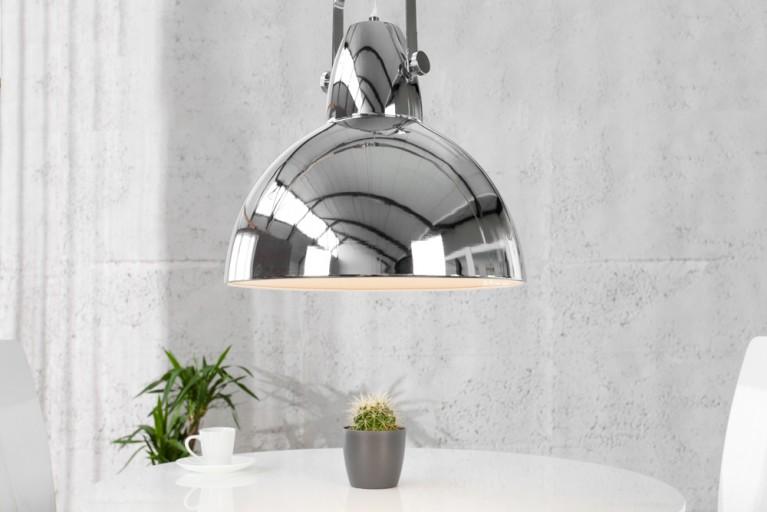 Design Industrielampe FACTORY chrom 40cm Hängeleuchte