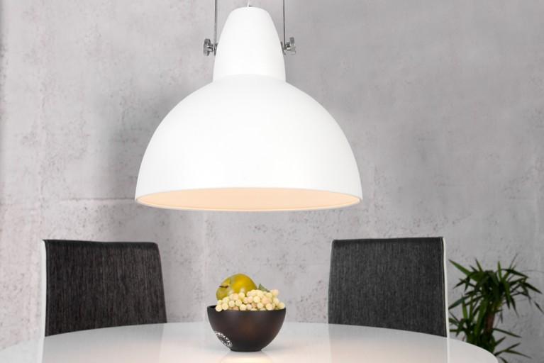 Design Industrielampe FACTORY weiß 40cm Hängeleuchte