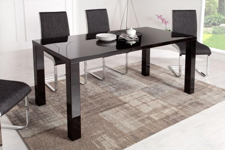 Design Esstisch LUCENTE Hochglanz schwarz 160cm Tisch