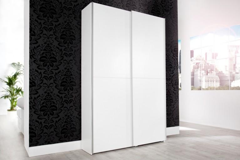 Design Garderobenschrank GEORGE XXL weiß 125cm breit Schuhschrank Wunder!