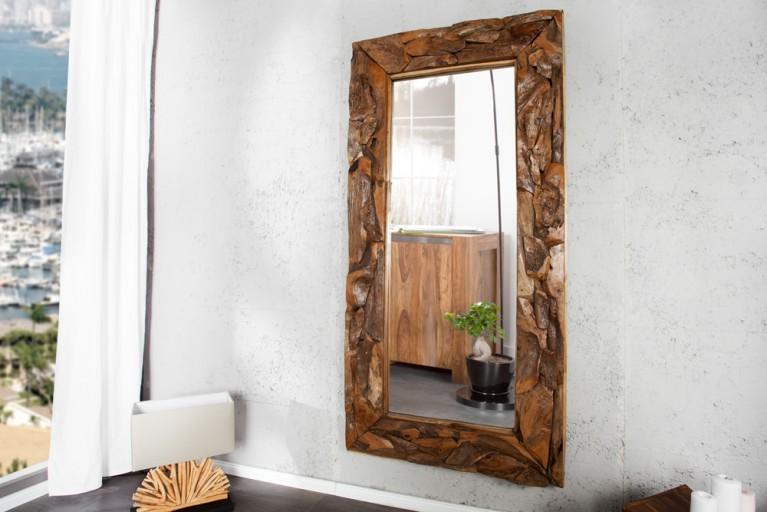 Massiver Treibholz Spiegel TRIBE aus recyceltem Teakholz 120cm