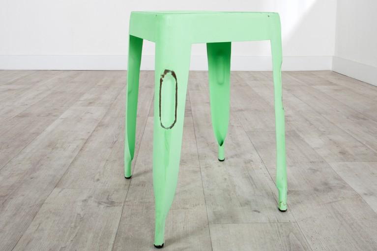 Stylischer Hocker MONTMARTRE grün 45cm Sitzhocker Schemel