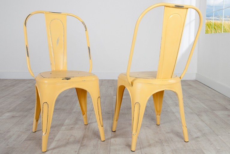 Stylischer Design Stuhl MONTMARTRE gelb 95cm hoch