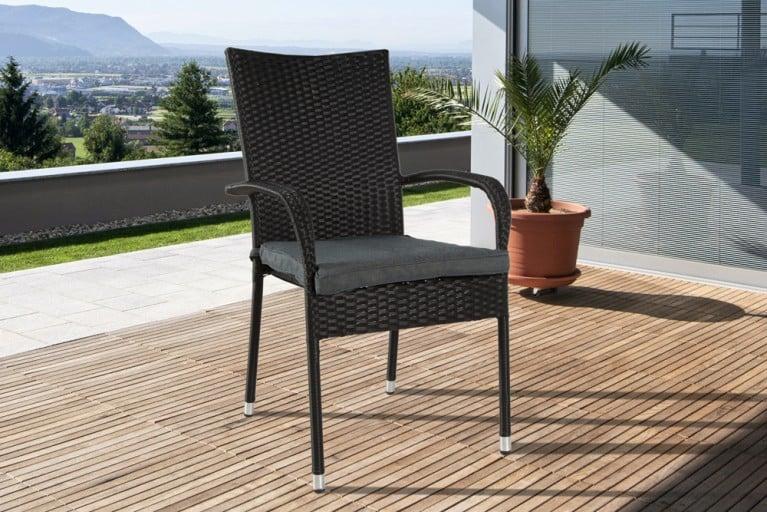 Sitzkissen für Design Gartenstuhl SIENNA anthrazit 40x5x45 cm