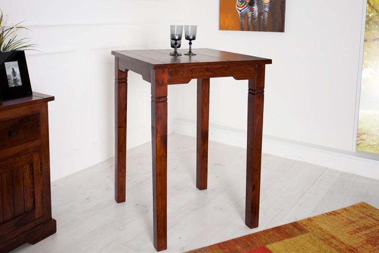 Massiver Design Bartisch HAVANNA im Kolonialstil 80 cm Sheesham dark coffee