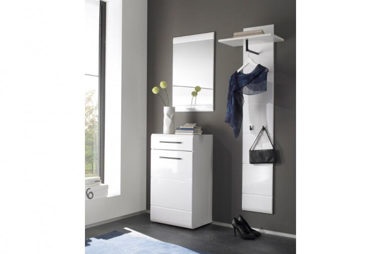 Platzsparende Garderobe FORMA 3-tlg. Set weiß Hochglanz 170cm