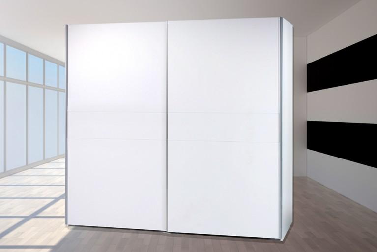 Schwebetüren Kleiderschrank YORK Alpinweiß 170cm