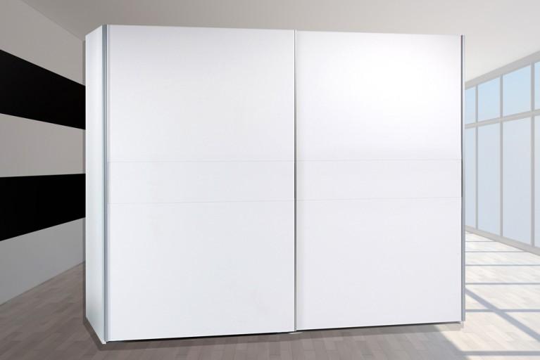 Schwebetüren Kleiderschrank YORK Alpinweiß 215cm