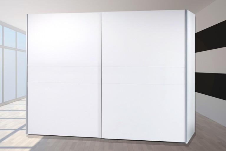 Schwebetüren Kleiderschrank YORK Alpinweiß 270cm