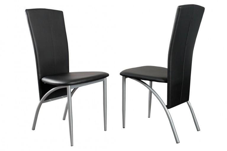 Exklusiver Design Stuhl NICO mit hoher Rückenlehne schwarz