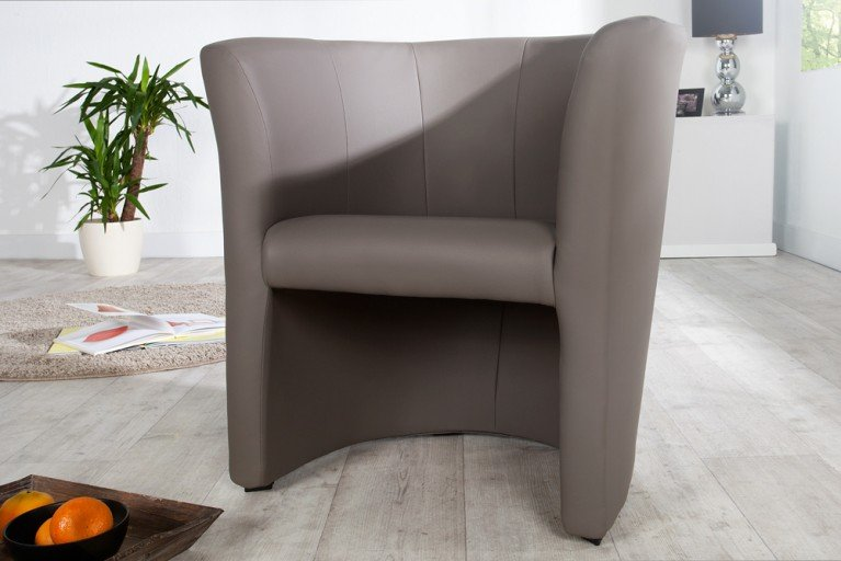 Stylischer Cocktailsessel ART DECO taupe Sessel