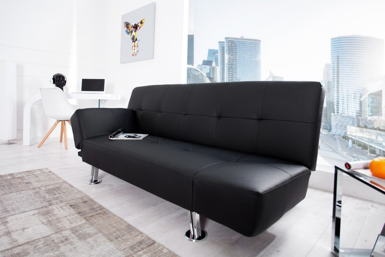 Minimalistisches Design Schlafsofa PURE anthrazit Funktionssofa
