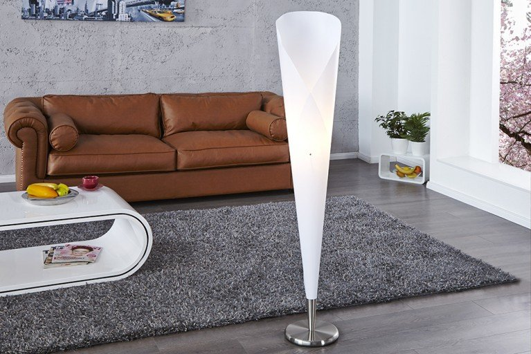 Design Klassiker Stehlampe ELEGANZA L weiß