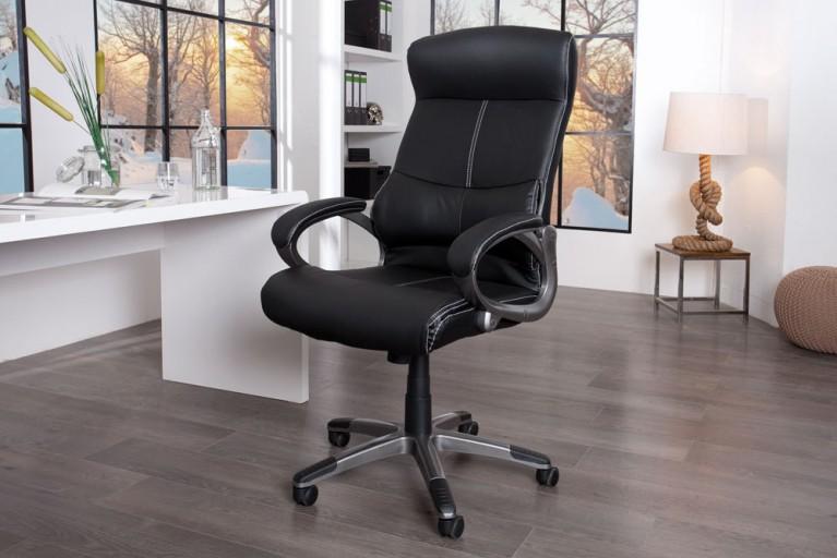 Dynamischer Bürostuhl AERO Lordosenstütze schwarz modern höhenverstellbar
