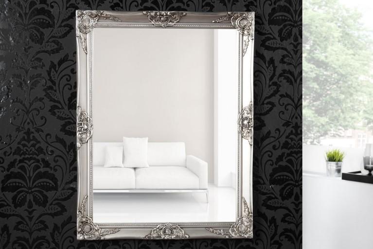 Barock Spiegel RENAISSANCE Silber und Facettenschliff 90cm Wandspiegel