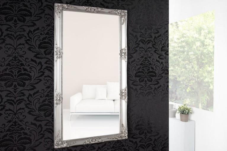 Barock Spiegel RENAISSANCE Silber und Facettenschliff 150cm Wandspiegel