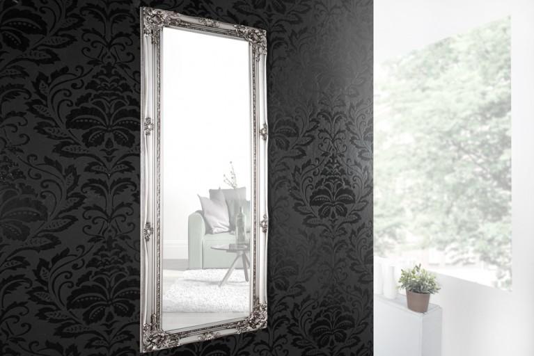 Barock Spiegel RENAISSANCE Silber und Facettenschliff 130cm Wandspiegel