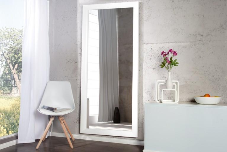 Design Spiegel REFLECTION weiß mit Facettenschliff 150cm Wandspiegel