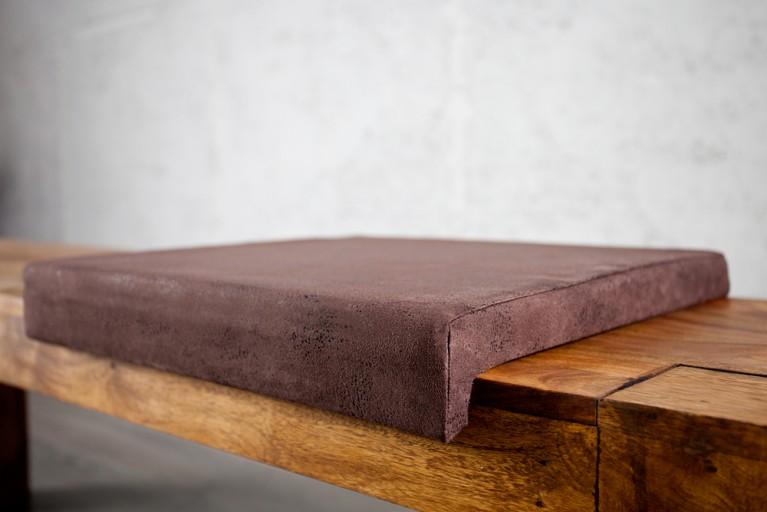Elegantes Klemmkissen JAM für Sitzbänke antik braun 40 cm