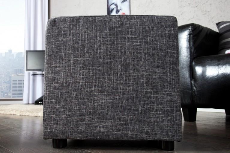 Design Hocker MONOLIT Strukturstoff anthrazit Sitzhocker 45cm