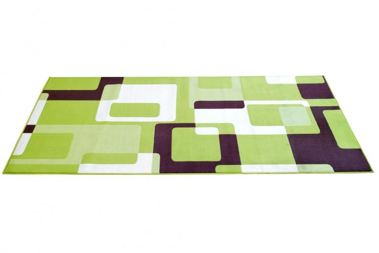 Großer Design Teppich SQUARE 160x230cm grün