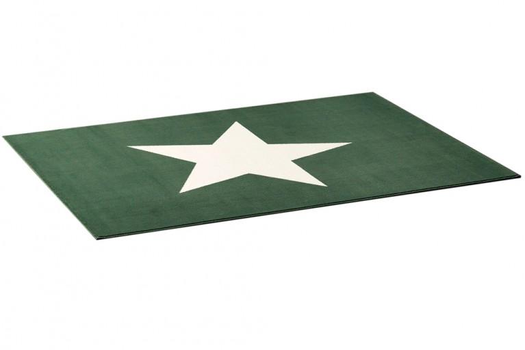 Design Teppich BRIGHT STAR SEAGREEN grün mit Stern 140x200 cm