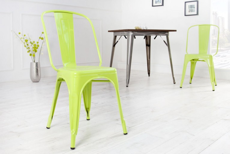 Stylischer Design Stuhl MONTMARTRE lemon 85cm Designklassiker Industrial Finish