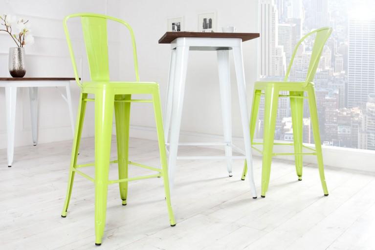 Design Barstuhl MONTMARTRE lime 115cm Designklassiker Barhocker Industrial Finish