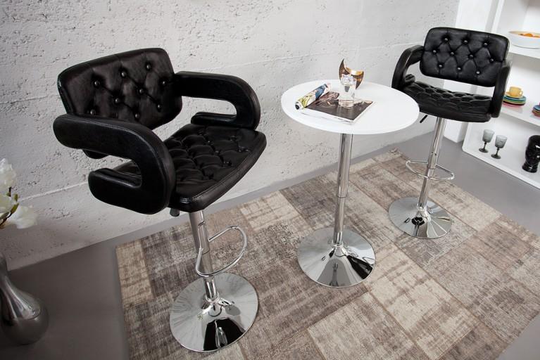 Exklusiver Design Barhocker CASINO II schwarz Bistrostuhl
