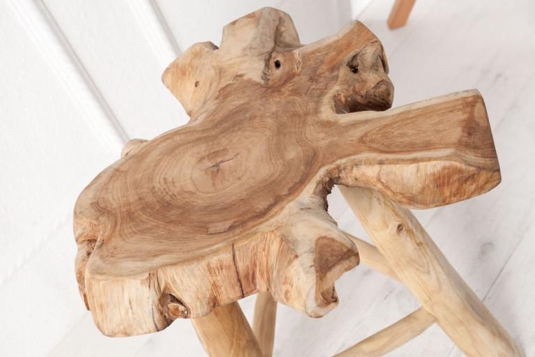 Seltener Orignial Baumstamm Beistelltisch IGUAZU Couchtisch